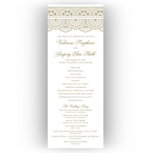 Moroccan Wedding Program