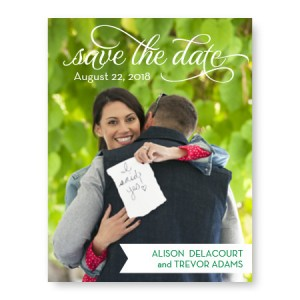 Sweet Script Photo Save the Date Cards