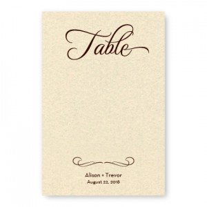 Sweet Script Table Cards