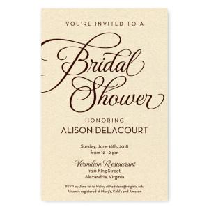 Sweet Script Bridal Shower Invitations