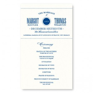 Broadway Marquee Wedding Program