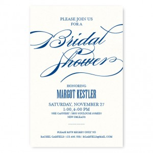 Broadway Marquee Bridal Shower Invitations