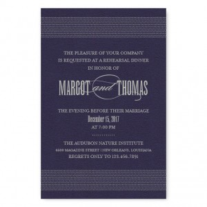 Broadway Marquee Rehearsal Dinner Invitations