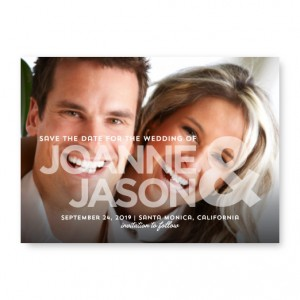 Opaque Love Photo Save The Date Cards