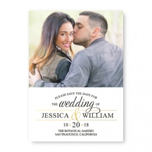 Foil Statement Save The Date Cards