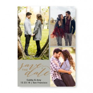 Romantic Collage Photo Save The Date Cards