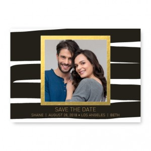 Foil Frame Save The Date Cards