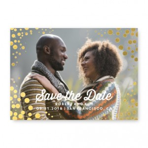 Foil Bubbles Save The Date Cards