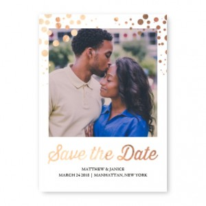 Foil Dots Save The Date Cards