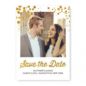 Glitzy Photo Save The Date Cards