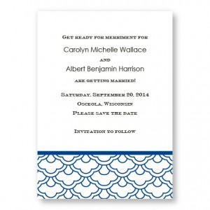 Ornamental Expression Letterpress Save the Date