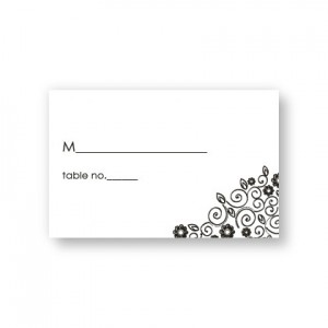 Flirty Flowers Seating Cards