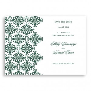 Promenade Letterpress Save the Date