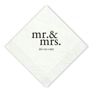 Mr. & Mrs. Beverage Napkins
