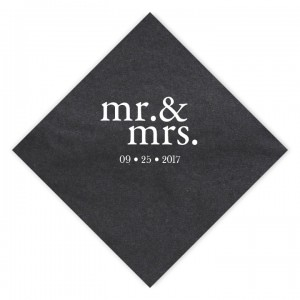 Mr. & Mrs. Luncheon Napkins