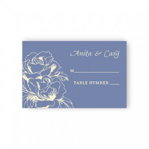 Blooming Roses Seating Cards