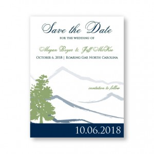 Mountain Save The Date Cards