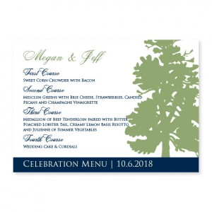 Mountain Menu Cards