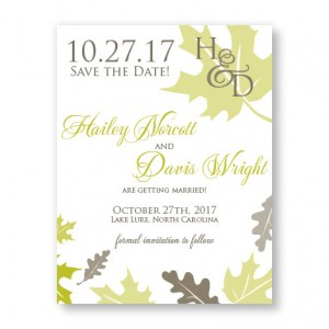 Fall Leaves Save The Date Cards
