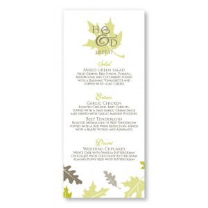 Fall Leaves Menu Cards