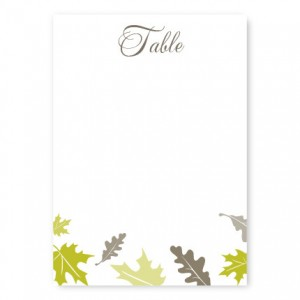 Fall Leaves Table Cards