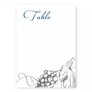Vineyard Table Cards