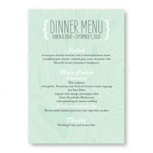 Branch & Woodgrain Menu Cards
