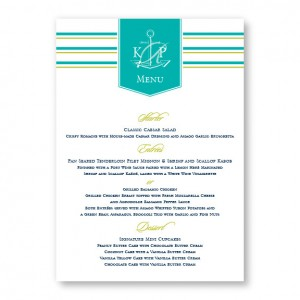 Anchor Menu Cards