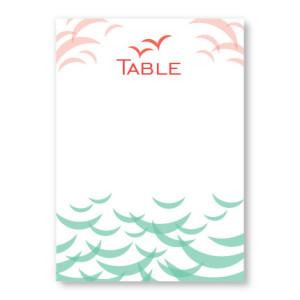 Ocean Table Cards
