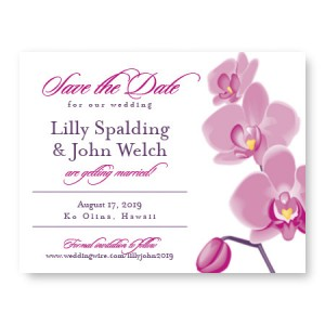 Tropical Orchid Save The Date Cards