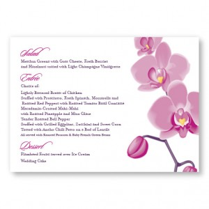 Tropical Orchid Menu Cards