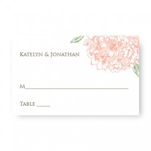Peony Seating Cards