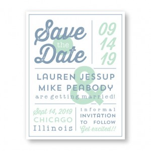 Poster Save The Date Cards