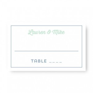 Poster Seating Cards