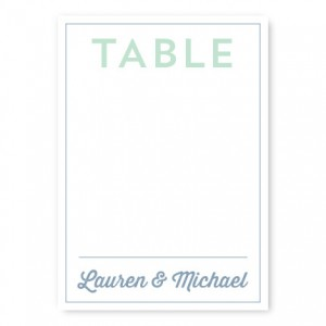 Poster Table Cards