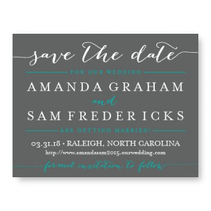Posh Save The Date Cards