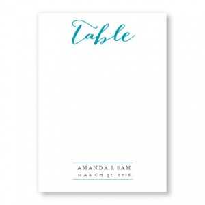 Posh Table Cards