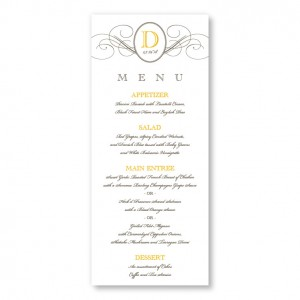 Elegance Menu Cards