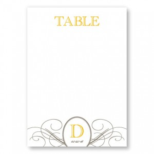Elegance Table Cards