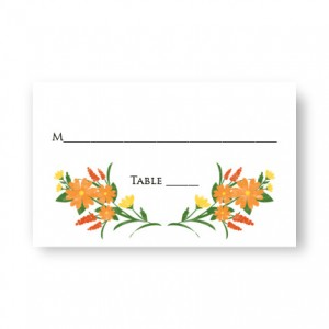 Floral Monogram Seating Cards