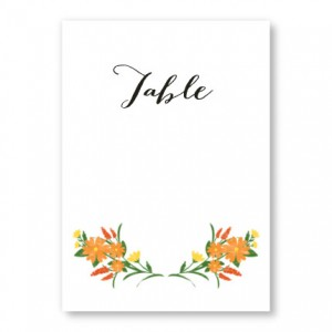 Floral Monogram Table Cards