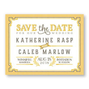 Vintage Save The Date Cards