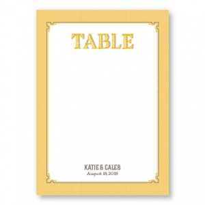 Vintage Table Cards
