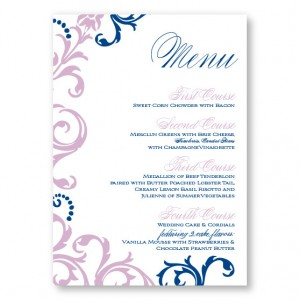 Josie Menu Cards