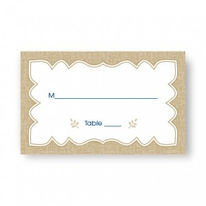 Burlap Seating Cards