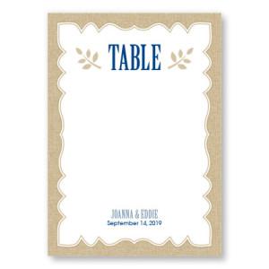 Burlap Table Cards