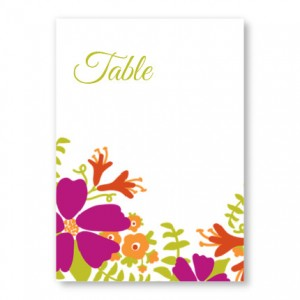 Bloom Table Cards