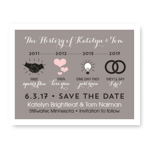 Timeline Save The Date Cards