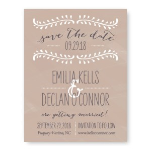 Vine Save The Date Cards
