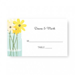 Mason Jar Seating Cards